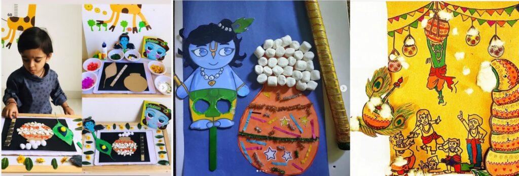 Krishna Janmashtami activities and crafts
